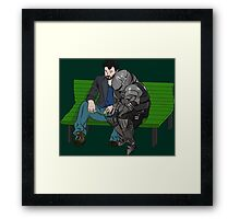 Keanu and Siegmeyer, saddest men in the world  Framed Print