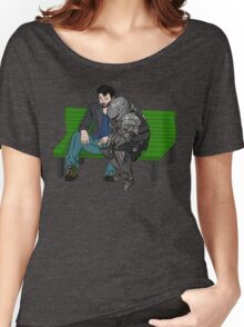 Keanu and Siegmeyer, saddest men in the world  Women's Relaxed Fit T-Shirt
