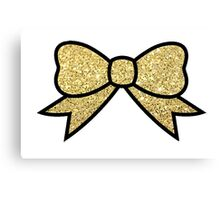 Gold Bow Canvas Print