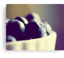 Bowl of Blueberries - Summer Fruit Food Photograph Metal Print