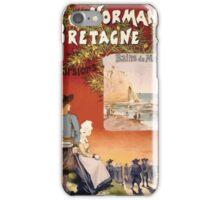 Gustave Fraipont Affiche Ouest Normandie Bretagne iPhone Case/Skin