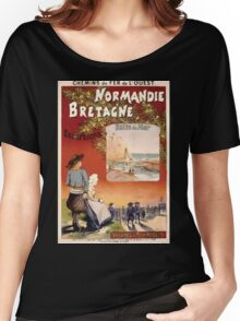 Gustave Fraipont Affiche Ouest Normandie Bretagne Women's Relaxed Fit T-Shirt