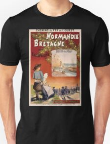 Gustave Fraipont Affiche Ouest Normandie Bretagne T-Shirt