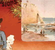 Gustave Fraipont Affiche Ouest Normandie Bretagne Sticker