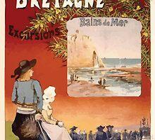 Gustave Fraipont Affiche Ouest Normandie Bretagne by wetdryvac