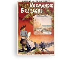 Gustave Fraipont Affiche Ouest Normandie Bretagne Metal Print