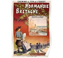 Gustave Fraipont Affiche Ouest Normandie Bretagne Poster