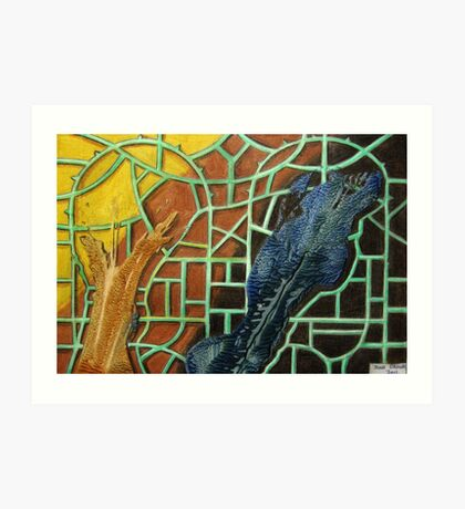 326 - STRING ART V - DAVE EDWARDS - MIXED MEDIA - 2011 Art Print