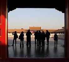 Forbidden City voyeurs by Jenny Hall