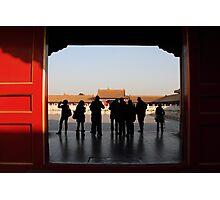 Forbidden City voyeurs Photographic Print