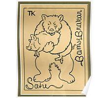 Theodor Kittelsen Bjoernen og reven bjørnen bamse brakar bjørnen bear and fox Brave Old Bruin Norske Folkeeventyr 1841 1844 Poster