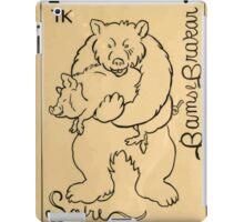 Theodor Kittelsen Bjoernen og reven bjørnen bamse brakar bjørnen bear and fox Brave Old Bruin Norske Folkeeventyr 1841 1844 iPad Case/Skin