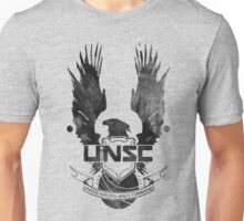 Halo UNSC Faded Watercolor Print Black on White Unisex T-Shirt