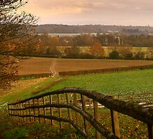 Constable Country In Suffolk On A Cold Winters Evening.  by miradorpictures