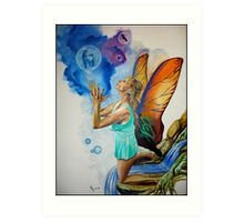 Magical Fairy performing a spell Art Print