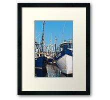 Three Trawlers Framed Print