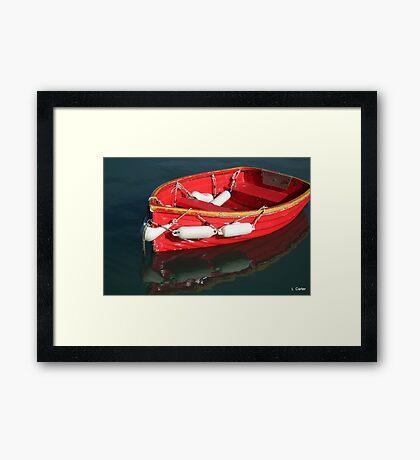 Red Rowboat Framed Print