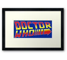 Back to Doctor Who Mash Up  Framed Print