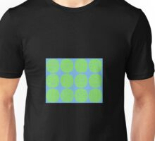 Lime polka dots with sky blue Unisex T-Shirt