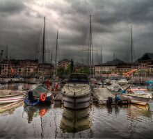 Port at Como Lake by Roberto Pagani