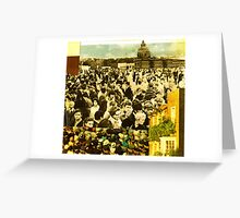 human activity is a spectator sport Greeting Card