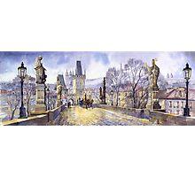 Prague Charles Bridge Mala Strana  Photographic Print