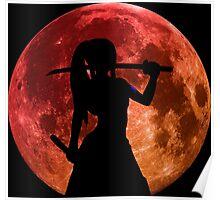 fairy tail erza scarlet titania moon anime manga shirt Poster