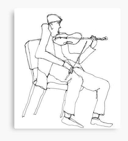 the violin seemed a bit flat Canvas Print