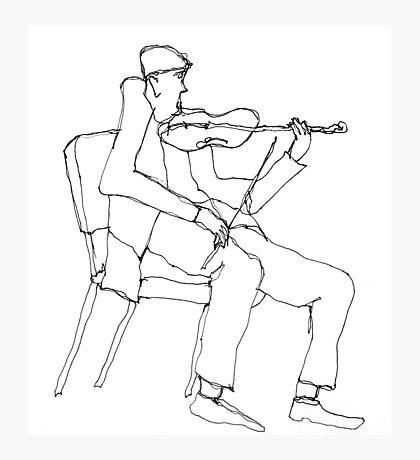 the violin seemed a bit flat Photographic Print