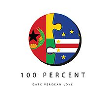 100% Cape Verdean Love Photographic Print