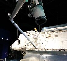 Space Shuttle Atlantis with Arm Extended by ddzejak