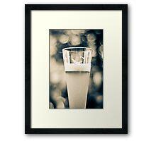 Beer Glass Bokeh Framed Print