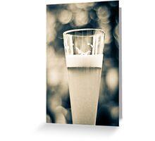 Beer Glass Bokeh Greeting Card