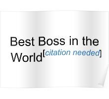Best Boss in the World - Citation Needed! Poster