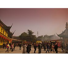 Changzhou Buddhist Temple during Spring Festival Photographic Print
