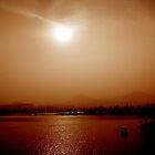 Xuzhou river and mountains, China by Chris Millar