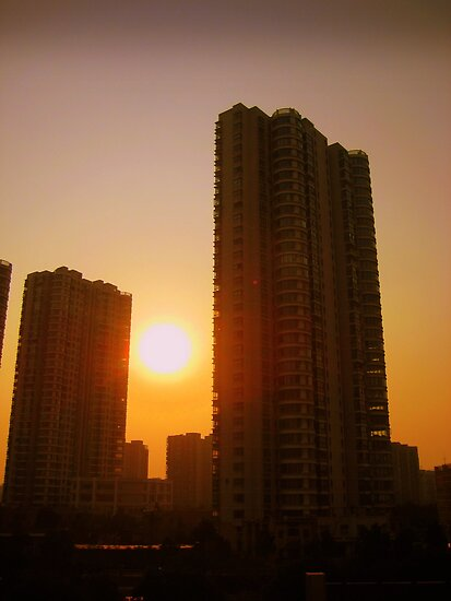 Changzhou tower blocks, China by Chris Millar