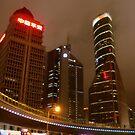 Shanghai at night, China by Chris Millar