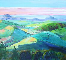 Evening panorama from Montville  by Virginia McGowan