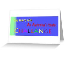 Australia's Youth Challenge Banner  Greeting Card