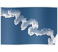 Delta IV Heavy Rocket Contrail Poster
