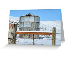 Snow Silo Greeting Card