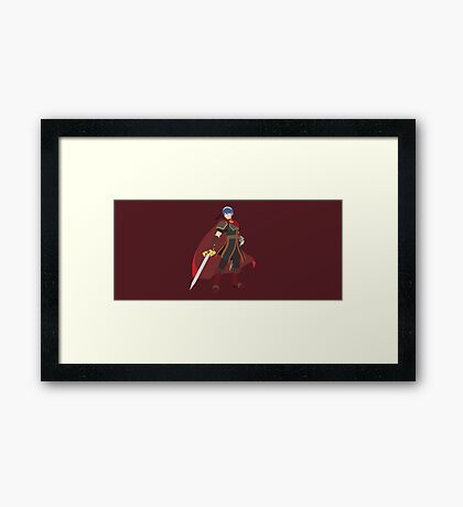 Marth (Red) - Super Smash Bros. Framed Print