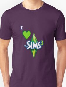 I Love The Sims 3 Design T-Shirt