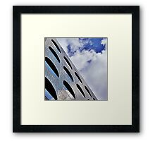 "Reflections on Perforated Steel"". Circular Façade Study # 1.  Framed Print"