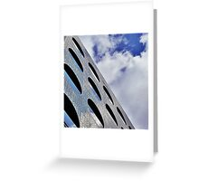 "Reflections on Perforated Steel"". Circular Façade Study # 1.  Greeting Card"