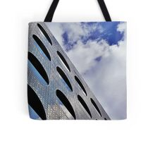 """Reflections on Perforated Steel"""". Circular Façade Study # 1.  Tote Bag"""