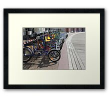 Bike rental Disney Board walk Framed Print