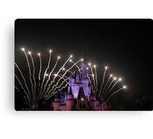 Cinderella's Castle at Fireworks Canvas Print