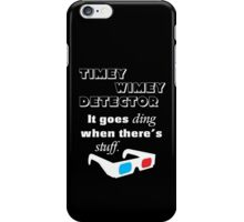 Doctor Who Timey Wimey Detector 3D Glasses iPhone Case/Skin